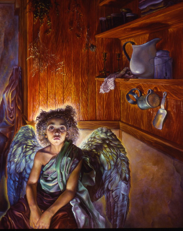 "2)""Portrait of an Angel"", oil on linen, 60"" x 48"", 1984"