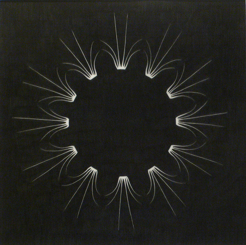 """Symmetrical Procedure BKS-16-2"", graphite on Duralar, 16""x16"", 2008."