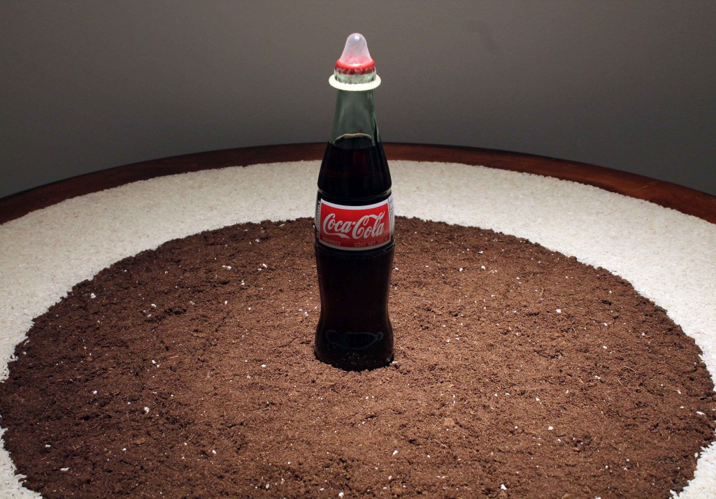Sacred Coke (detail), 1993-2014 photo courtesy of Tyler Rollins Gallery