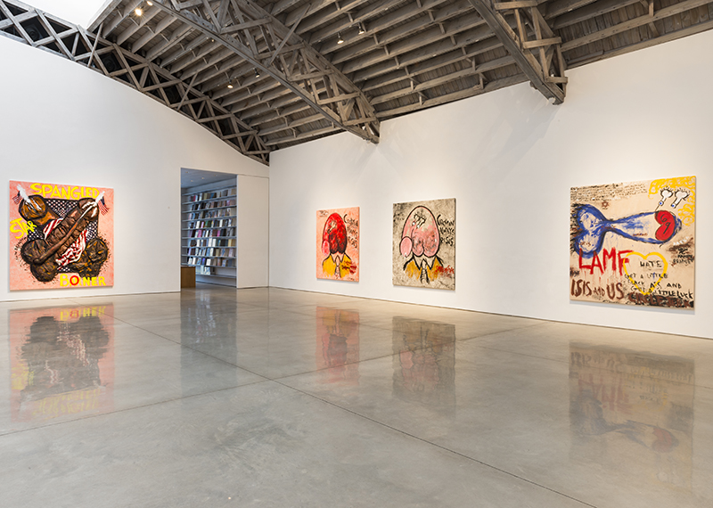 Installation view, Dicks of Death, Mary Boone Gallery, New York - January 9 to February 27, 2016